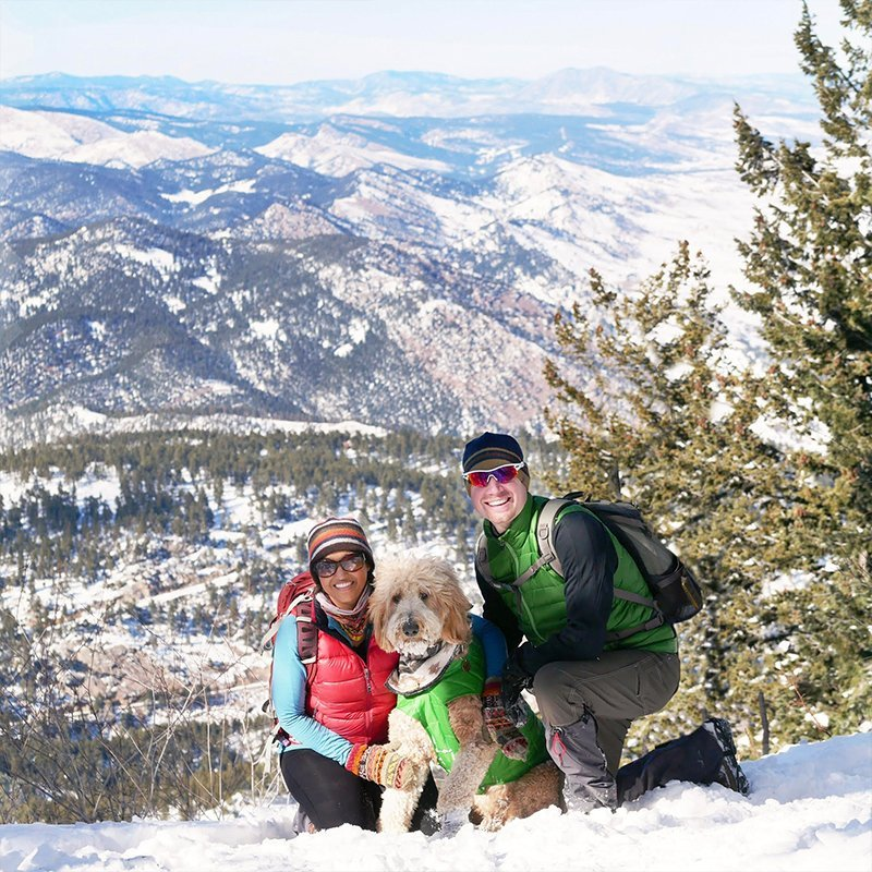 Dr. Raelene on a snowy mountain - Camp Little Tooth Pediatric Dentistry