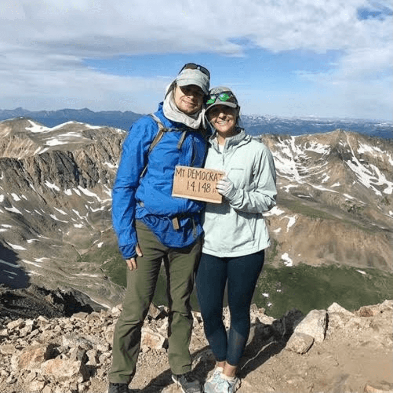 Dr. Anne on the top[ of a mountain - Camp Little Tooth Pediatric Dentistry