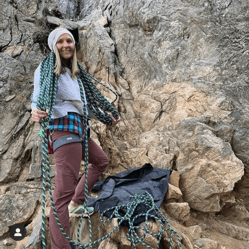 Dr. Anne rock Climbing - Camp Little Tooth Pediatric Dentistry
